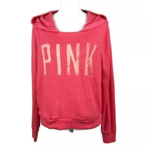 PINK Victoria's Secret Hoodie Coral Pink Soft SZ M